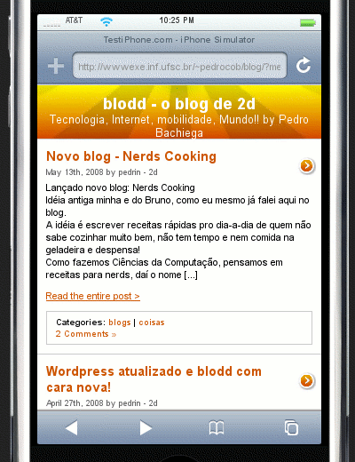 blodd iphone preview